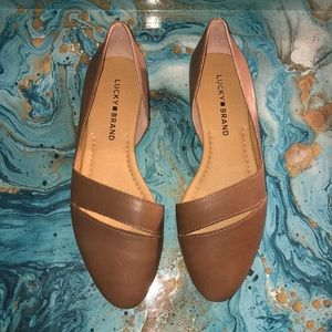NWOT Lucky Brand Ashena Leather Ballet Fla…